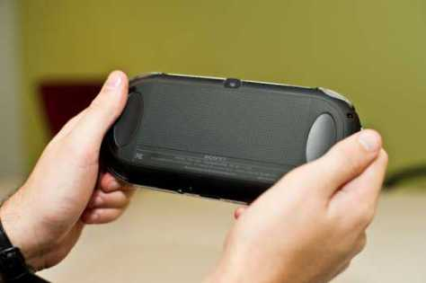 Sony PS Vita backside controls