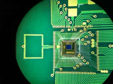 Radio-Transmitting Chip Powered by the Ear